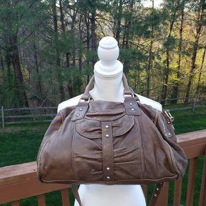 Junior Drake Brown Lamb Leather Satchel Bag